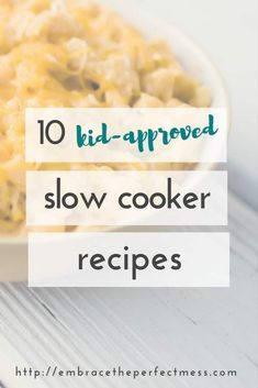 10 kid friendly slow cooker recipes Are you looking for recipes kids will actually eat? these 10 recipes are kid approved, AND made in the crock pot! that makes them perfect recipes for busy moms like me! Kid Friendly Crockpot Recipes, Crockpot Recipes For Kids, Easy Kid Friendly Dinners, Healthy Meals For Kids, Quick Easy Meals, Slow Cooker Recipes, Kids Meals, Cooking Recipes, Crockpot Meals