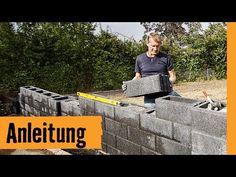 Gartenmauer bauen mit Hohlsteinen | HORNBACH Meisterschmiede - YouTube
