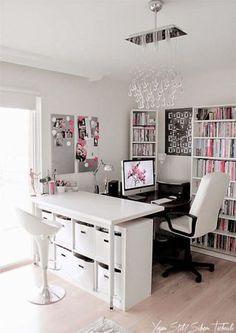 Office Room Design Women – Home Office Design For Women Studio Apartment Design, Home Office Design, Home Office Decor, Office Ideas, Desk Office, Studio Apartments, Bedroom Layouts, Bedroom Ideas, Diy Bedroom