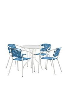 CRIBEL Tavolo Con Sedie Mirto Blu