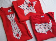 4th of July Onesie or Toddler TShirt Tie USA map or by ShopMelissa, $16.00