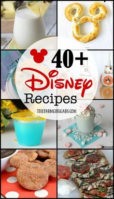 40 Disney recipes that you can make at home. These recipes are the next best this to being at the most magical place on earth.