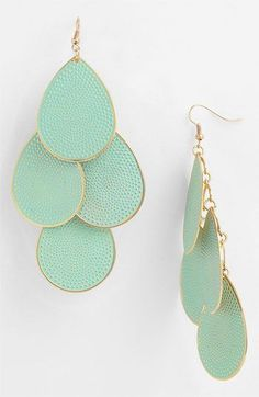 Bijoux Tendance : Natasha Couture Pastel Teardrop Earrings available at Nordstrom Jewelry Box, Jewelery, Jewelry Accessories, Fashion Accessories, Fashion Jewelry, Fashion Earrings, Bijou Box, Couture, Teardrop Earrings