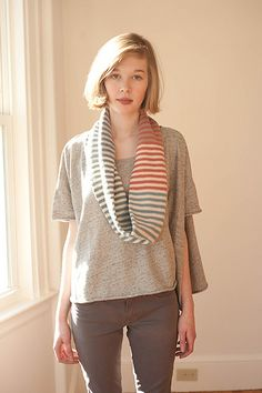 love the shape of this t-shirt or sweater... Ravelry: Rayures pattern by Amy Miller