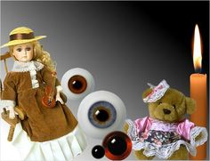Online Shop mit Augen aus Glas. Glasaugen fuer Puppen und Baeren.