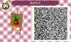 Animal Crossing: New Leaf & HHD QR Code Paths ||| Beet, plants, patern