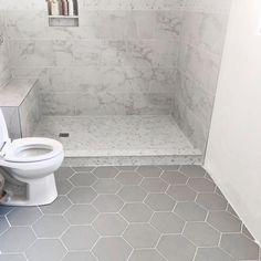 Upstairs Bathrooms, Basement Bathroom, Bathroom Interior, Master Bathroom, Bathroom Ideas, Master Shower Tile, Bathroom Stuff, Industrial Bathroom, Bathroom Layout
