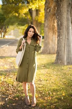 Military Shirt Dress **Maskcara Collection**
