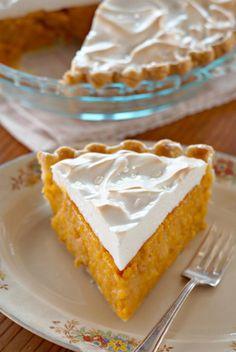 The Deen Bros Sweet Potato Meringue Pie