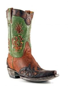 Women's Old Gringo Cactus Boots Vesuvio Green and Brass #L412-37