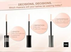 Three different ways to love your lashes http://www.marykay.com/lisabarber68  Call or text 386-303-2400
