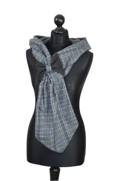 Schleifen Kapuzenschal grau/blautöne Kariert - Herzlich willkommen auf Nstyle - Fashion