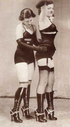 Boots dominatrix 1930 vintage