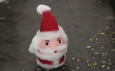 Como hacer un pequeño Santa Claus con un huevo