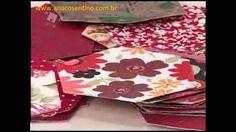 Patchwork Ana Cosentino: Bolsa Dupla Tiracolo (hexágonos)