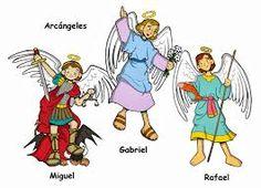 Resultado de imagen para imanes animada de arcangeles Gabriel, Rafael y Miguel