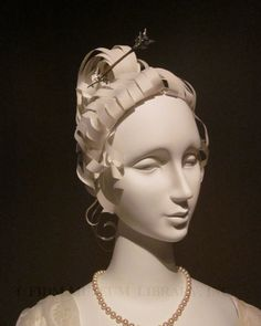 The FIDM blog is great for showing interesting and unusual.  In this case, they describe a creative method to make wigs on their mannequins.