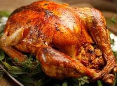 Complete instructions for citrus and herb-brined roast turkey with gravy from Angela Gray on Just a Pinch