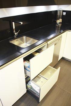 Cajones y gavetas extraibles en los dise os de cocinas en - Linea 3 cocinas ...