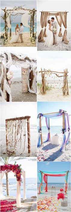 Beach wedding ideas- beach wedding arches decors -   See more at: http://www.deerpearlflowers.com/40-great-beach-wedding-arches/