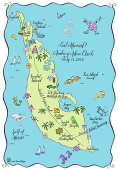 sanibel island shelling map by janine