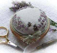 *Lavender and Bees Pincushion