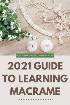 There isn't a better time to start with Macrame than in 2021! Take your pick from easy beginner guides, gorgeous cords, and countless amazing free patterns. This guide provides everything you need to get started with Macrame! #macrameforbeginners #macrameprojects #macramepatterns Macrame Projects, Craft Projects, Craft Ideas, Free Macrame Patterns, Macrame Wall Hanging Diy, Macrame Earrings, Macrame Knots, Dream Catchers, Wall Hangings