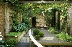A Town Garden, del Buono Gazerwitz Landscape Architecture Small Gardens, Outdoor Gardens, Landscape Architecture, Landscape Design, Small Backyard Landscaping, Landscaping Ideas, Patio Ideas, Large Backyard, Modern Landscaping