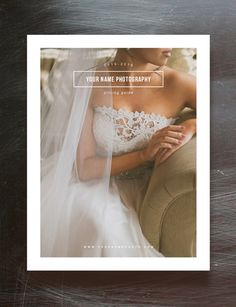 Photographer Pricing Guide Set Wedding by designbybittersweet
