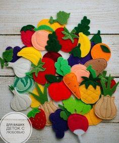Baby Crafts, Toddler Crafts, Felt Crafts, Diy And Crafts, Diy Quiet Books, Felt Quiet Books, Diy For Kids, Crafts For Kids, Felt Fruit