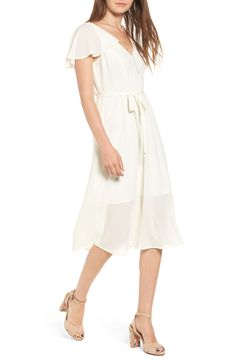 f22bc6022e06 New Leith Belted Flutter Sleeve Dress