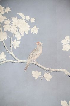 Detail: Gracie Wallpaper- some of the most beautiful out there- it's hand painted.