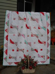 Modern Quilt Pattern A Banner Day Jelly Roll Pattern Modern Quilt Patterns, Pdf Patterns, Jelly Roll Patterns, Layer Cake Quilts, Quilts For Sale, Quilt Sizes, Charm Pack, Scrappy Quilts, Easy