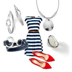 """Lia Sophia ""Nautical"" day look"" www.liasophia.com/twl  OR ON FB   Tracys Bing lia style"