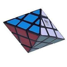 QJ Octahedron UFO Puzzle Cube Black 8 sided