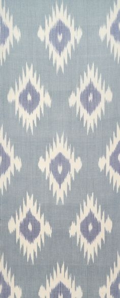 Blue Fire Ikat Fabric FA455 by BlackFigDesigns on Etsy