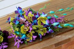 orchid wedding bouquets  Flowers By Lorey