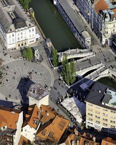 Tromostovje (Triple Brdge) - Ljubljana, Slovenia | by S. Jakše & B. Jeršič