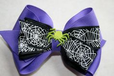 Halloween Spider Hair Bow by MariasBowTique on Etsy, $4.75