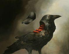 Samuli Heimonen born 1975 in Saarijävi, Finland is an artist painter who graduated as Master of Arts 2002 from the University of Art and Design in Helsinki. He has made solo exhibitions and. Illustration Arte, Crow Bird, Different Kinds Of Art, Art Society, Bird Art, Spirit Animal, Fantasy Art, Dark Fantasy, Graphic Art