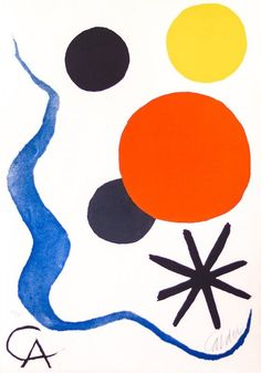 For Sale on - Composition - Etching and Aquatint by Alexander Calder - circa Etching, Aquatint by Alexander Calder. Offered by Wallector. Abstract Prints, Abstract Shapes, Shape Art, Alexander Calder, Art, Spray Can Art, Calder Mobile, Abstract, Famous Art