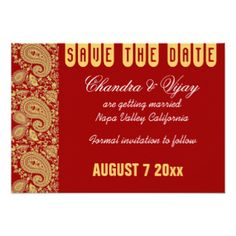Ganapati Wedding Save the Date Cards