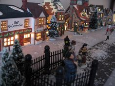 Miniature Christmas village. I love these and I'm starting one this year.