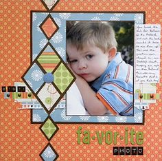 One picture layou great for boys or male pictures....love the layout!! love the argyle pattern too