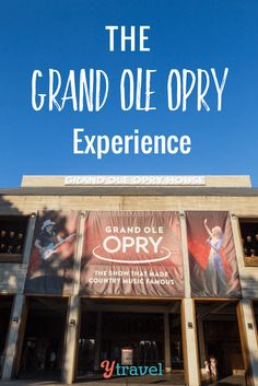 Looking for things to do in Nashville with kids? The Grand Ole Opry show and the Opry backstage tour is a must for your visit to Nashville. It's where dreams are made, not just for the Country music stars. It's a fantastic attraction for the family!