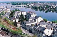 B. Loire River Valley, View of Saumur and the Loire from the heights by m. muraskin-france, via Flickr.