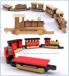 Vintage 1955 Legno Toy Train Set Plan