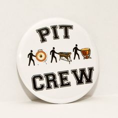 Pit Crew  Marching Band   2.25 inch pinback by hornandcastle, $3.00
