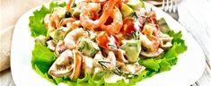 DAGENS RETT: Reker med eple og selleridressing - Aperitif.no Sour Cream, Cabbage, Meat, Chicken, Vegetables, Food, Veggies, Vegetable Recipes, Meals