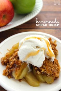 Homemade Apple Crisp Recipe! Easy Fall Desserts for Thanksgiving!: